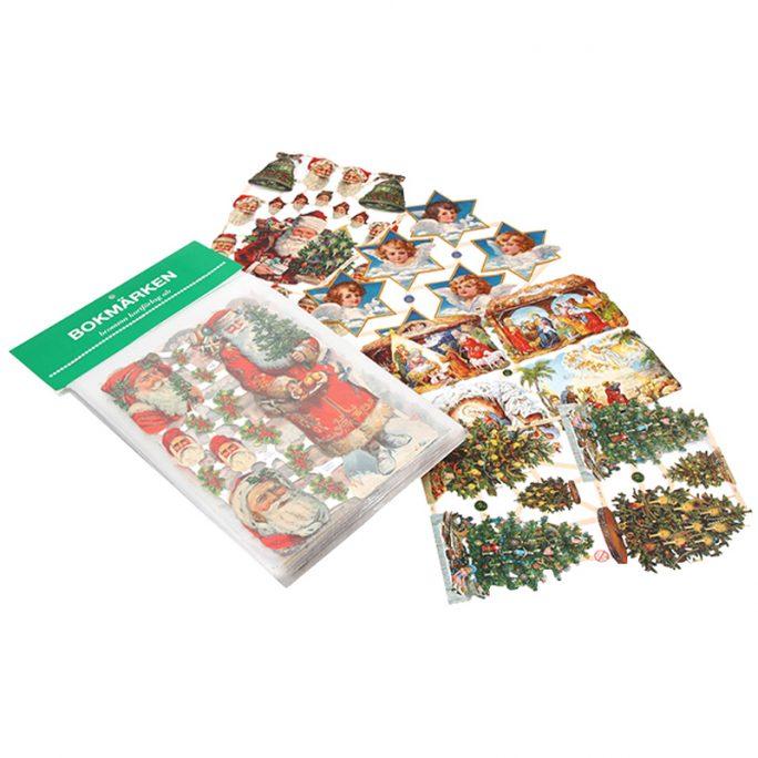 Bokmärken jul med tomtar och änglar. Bokmärken änglar glitter, bokmärken tomtar glitter, bokmärken jul glitter. Paket med 5 kartor med bokmärken för julpyssel med barn. Köp bokmärken jul hos LillaFilur.se