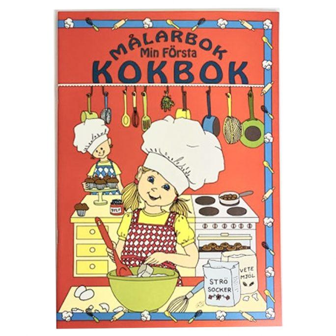 Min första kokbok barn med 15 enkla recept för barn. Målarbok med recept anpassade för barn att följa stegvis. Innehåller enkla recept barn middag, att baka, efterrätt, chokladbollar, pannkakor, hamburgare mm. LillaFilur.se