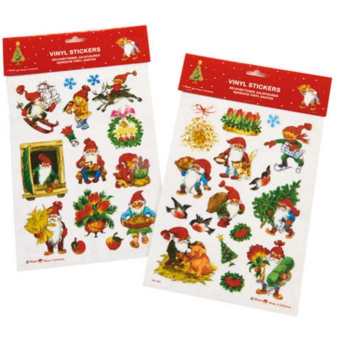 Fönsterdekor vinyl jul. Fönsterstickers med julmotiv. Beställ juldekorationer på LillaFilur.se