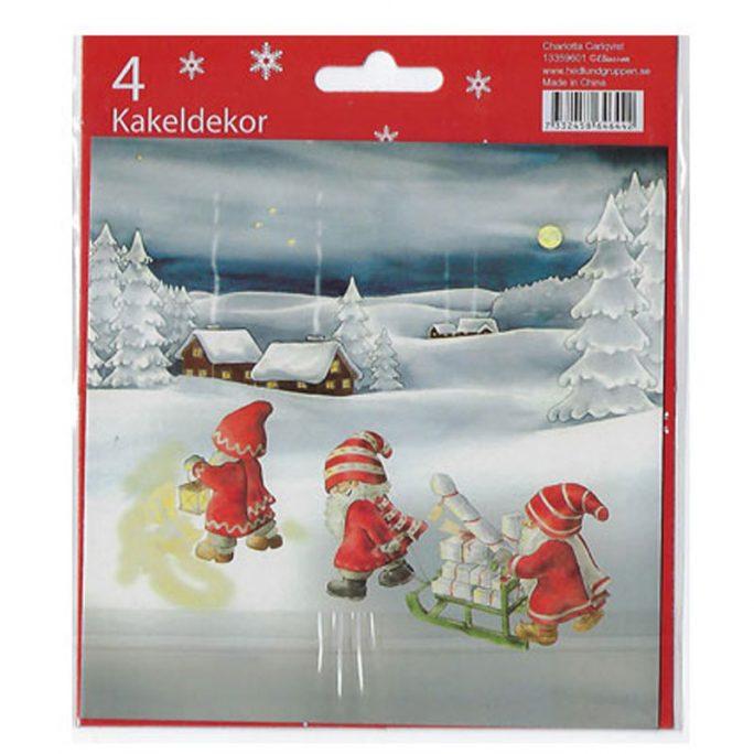 Självhäftande kakeldekor 15x15 jul. Kakeldekor med julmotiv. Köp kakeldekor kök på LillaFilur.se