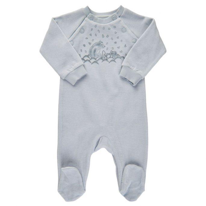 Sparkdräkt baby velour blå storlek 44 50 56 62 68 74 cl. Köp babykläder nyfödd pojke kille på LillaFilur.se